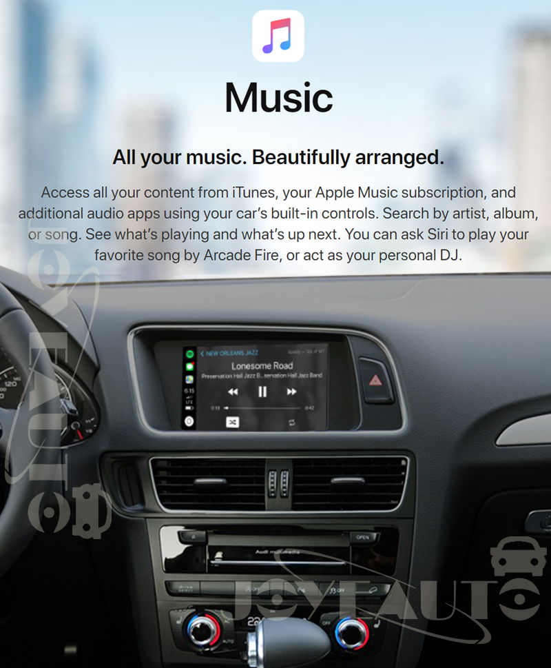Audi Q7 MMI 3G 3G+ 2009-2011MY WIFI Wireless Apple CarPlay