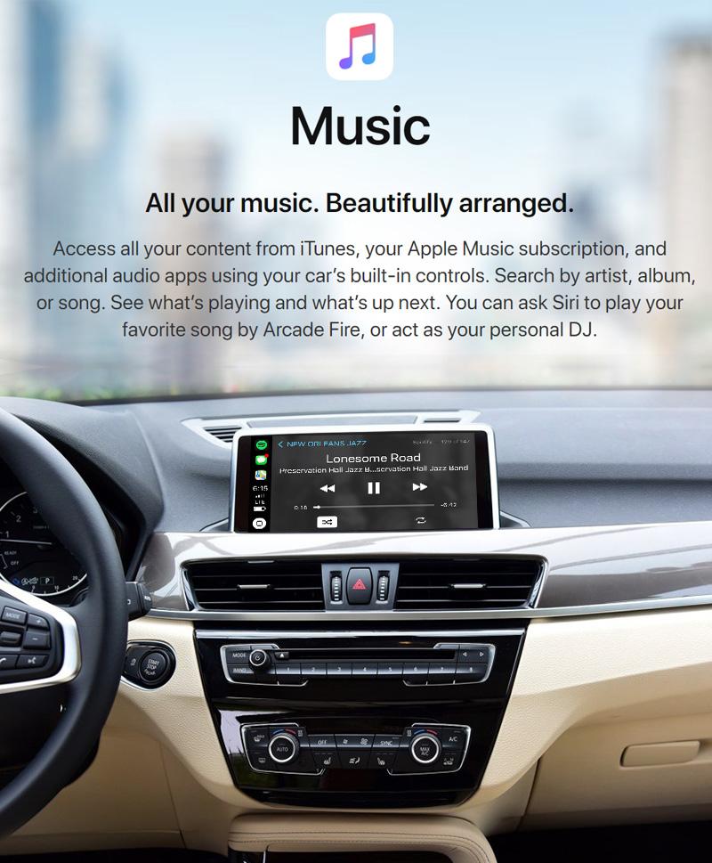 BMW X1 F48 2013-2017 NBT WiFi Wireless Apple CarPlay Interface Retrofit  with Rear View Camera