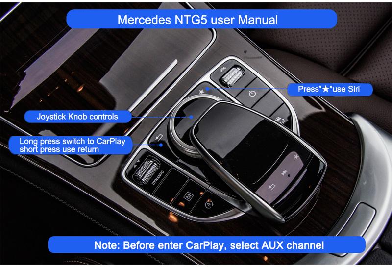 Mercedes C W205 GLC X253 NTG5 WiFi Wireless Apple CarPlay Interface
