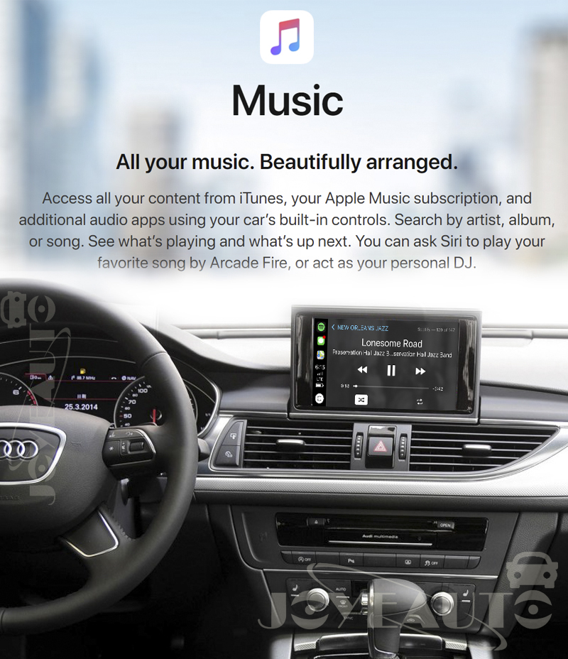 Audi A6 A7 A8 C7 MMI 3G Wireless Apple CarPlay Retrofit