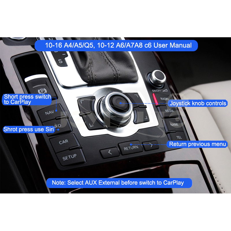 Audi A4 A5 Q5 MMI 3G 3G+ A6 c6 WIFI Wireless Apple CarPlay Retrofit