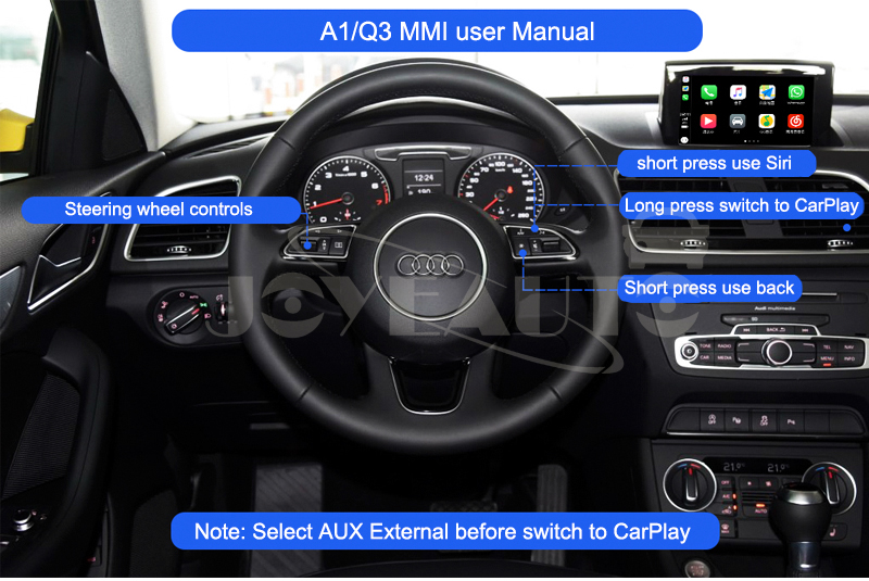Audi A1 MMI 2G 3G Wireless Apple CarPlay Retrofit