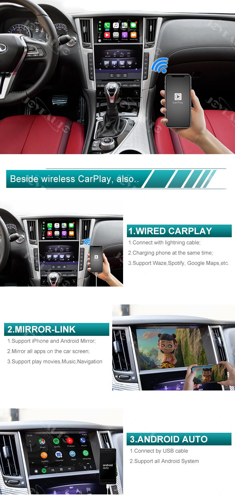 infiniti q50 q60 q50l qx50 wifi wireless apple carplay